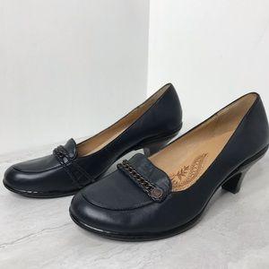 Söfft navy blue leather pump 11
